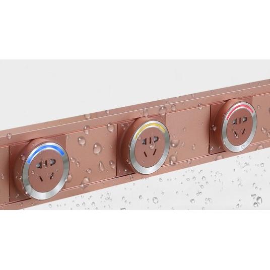 壹蜂 电力轨道可移动电源插座 500MM