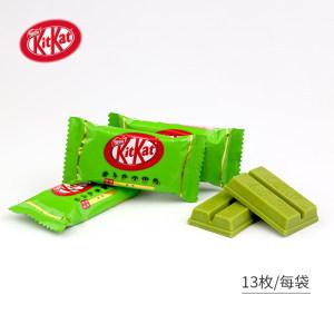 日本进口 雀巢 KitKat奇巧 宇治抹茶威化巧克力 150g*2袋 39元包邮 小降10元