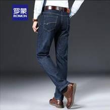 罗蒙 弹力牛仔裤男 蓝色 3369元包邮(补贴后65.9元)