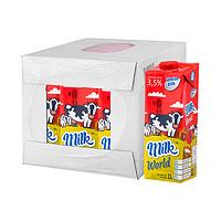 white silk 怀丝 全脂纯牛奶(常温奶) 1L*12盒 *2件 +凑单品