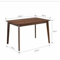 JIAYI 家逸 北欧实木餐桌 单个餐桌