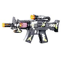 知鹿 儿童电动声光玩具枪音乐冲锋枪 中号31CM+3节5号电