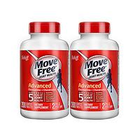 黑卡会员:Move Free 益节 维骨力红瓶氨糖软骨素加钙片 200粒*2瓶